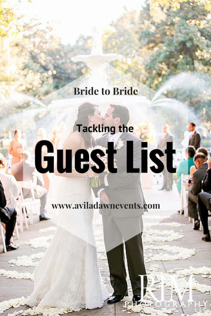 Tackling the Wedding Guest List | Avila Dawn Events | www.aviladawnevents.com | Columbia, SC Wedding Planner